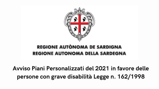 Avviso Piani Personalizzati del 2021 in favore delle persone con grave disabilità Legge n. 162/1998
